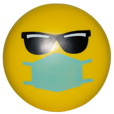 Cool PPE Emoji Squeezies® Stress Reliever