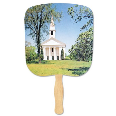 Chapel On The Hill Stock Religious & Inspirational Fan